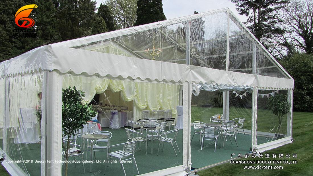 Big garden wedding celebration tent