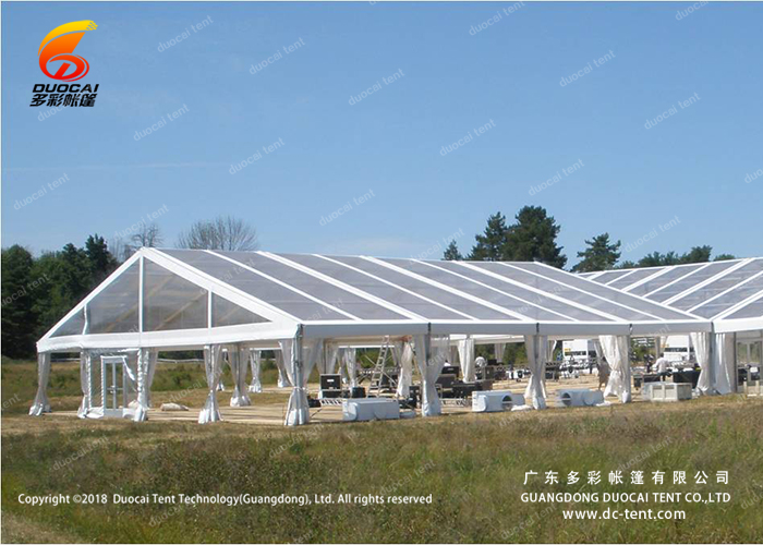 Easy set up clear PVC tent for wedding party