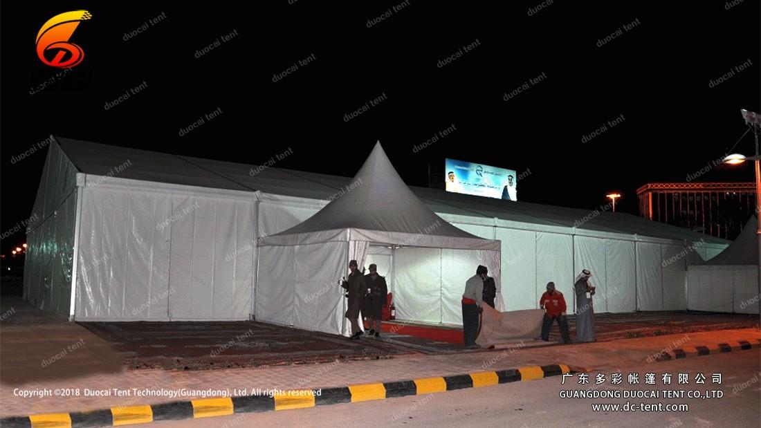 Haj tent in evening