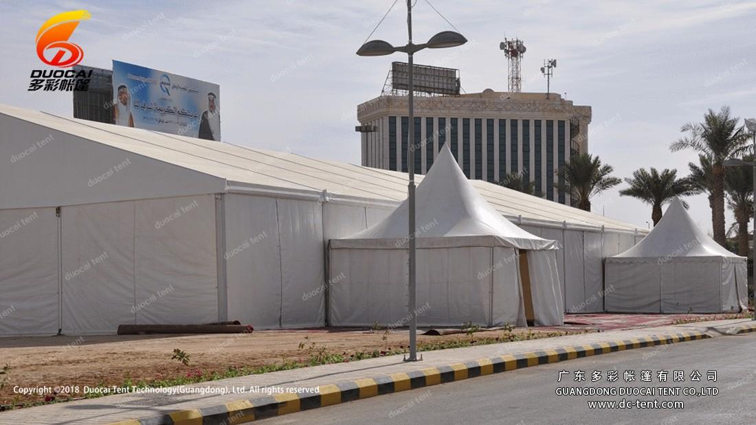Raji tent Beside the road