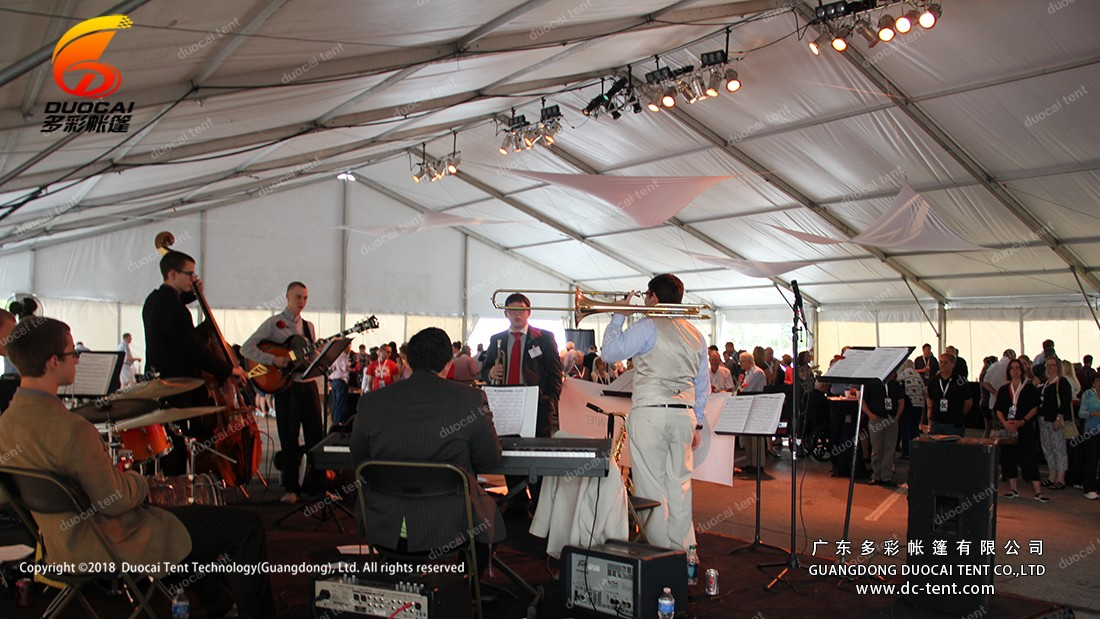 Music reception in the tent