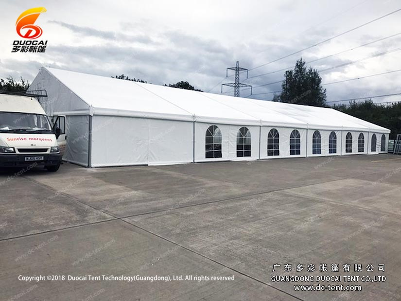 Warehouse tent for industrial use
