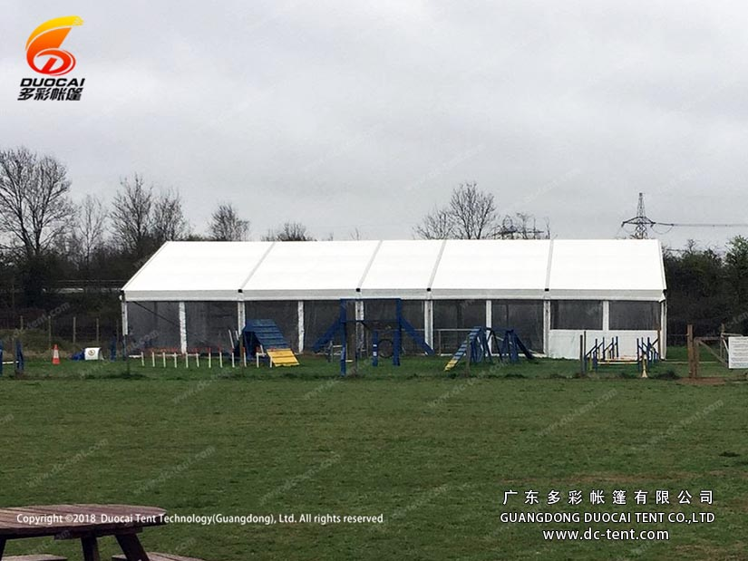 temporary warehouse equipment store tent