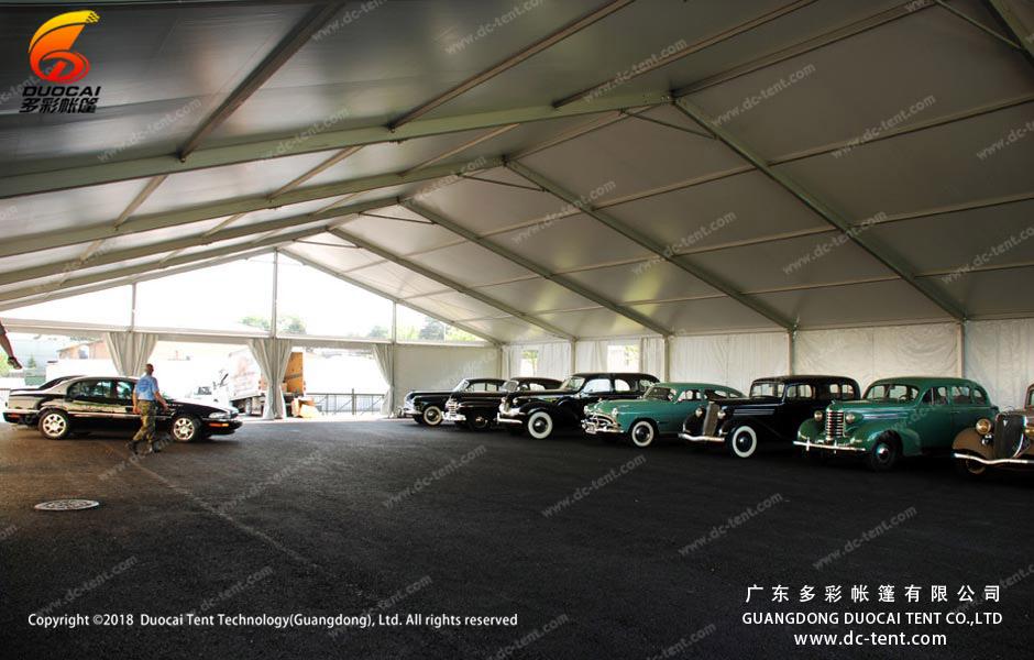 Large parking lot tent