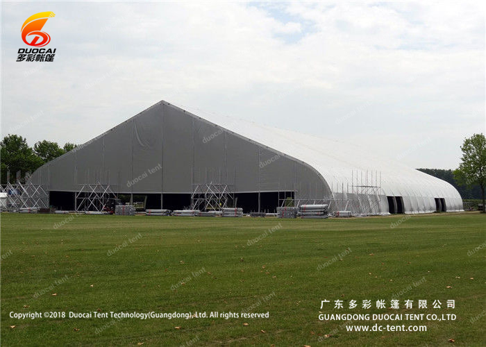 Sport game indoor tent with curved roof design