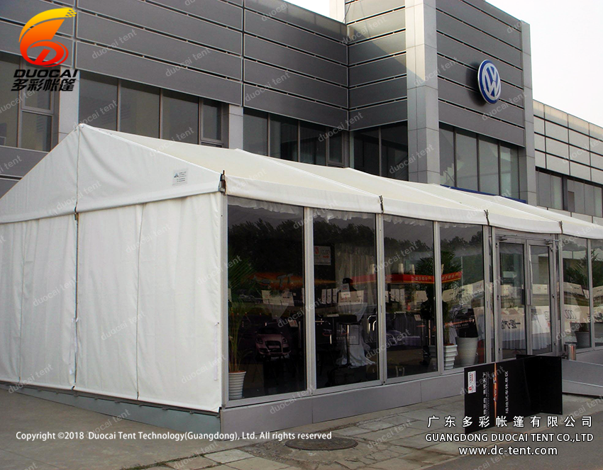 Luxury party tent with glass wallls made in China