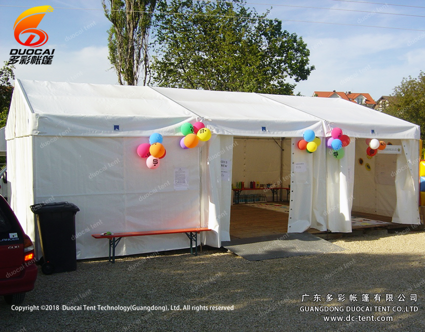 White Canopy small Tent for outdoor live show