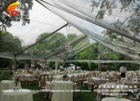 Clear PVC roof wedding tent