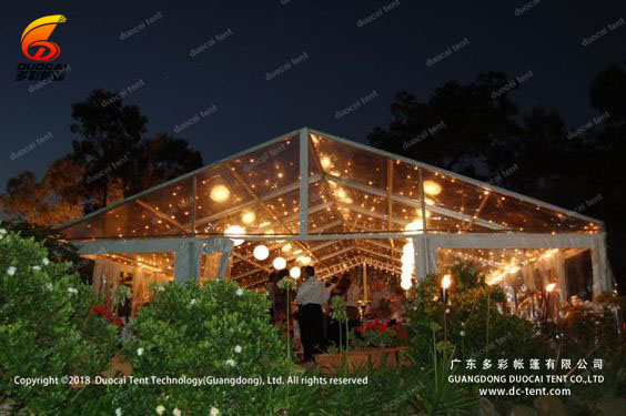 Wedding tent with transparent PVC