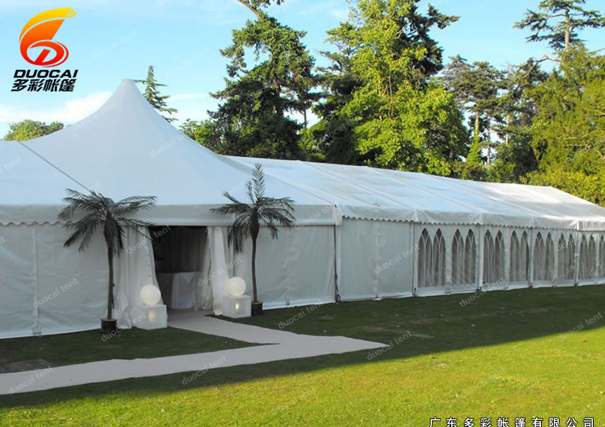 Mixed marquee tent with side walls PVC from chinese supplier