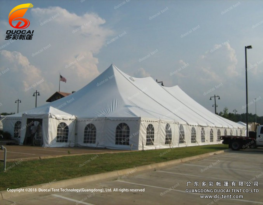 White PVC mixed tent factory from China