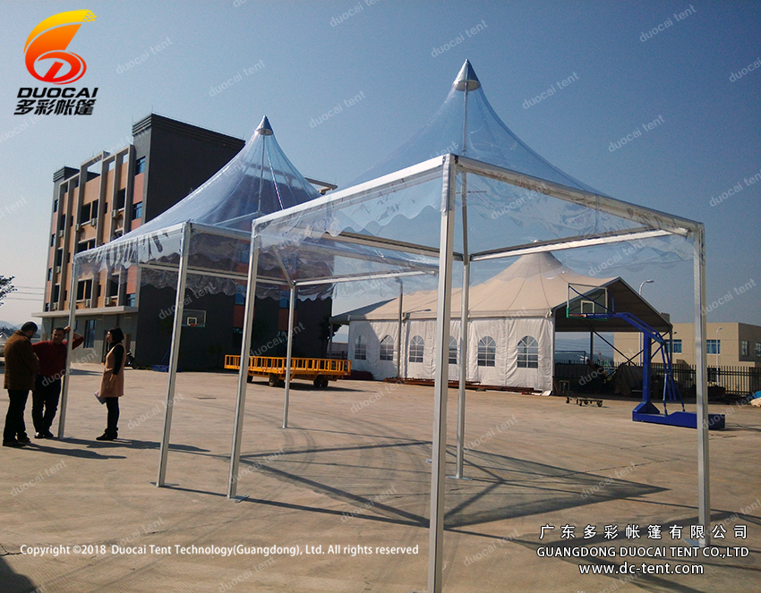 Clear PVC roof pagoda tent