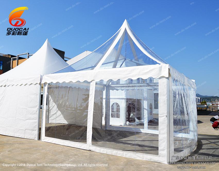 ransparent PVC tent for party events