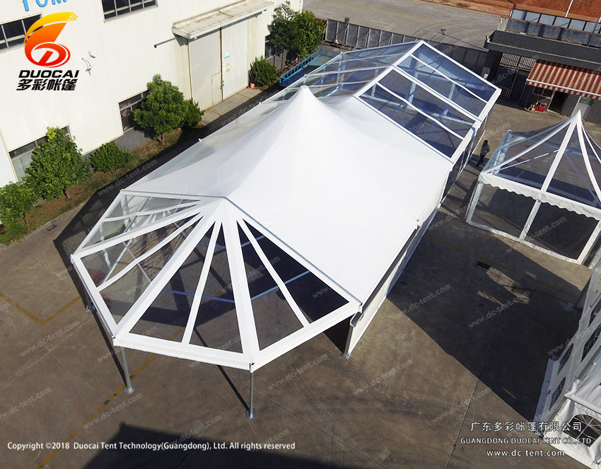 wedding party event tent with transparent PVC