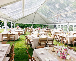 Hip gable end structure tent for celebration and ceremony