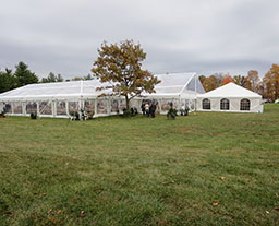 Clear PVC marquee tent for music festival and concert