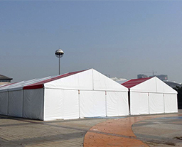 Food festival, exhibition hall tent with red white color PVC fabric