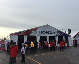 Car show tent with customized design
