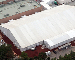 Large 50m pavilion for trade fair in USA