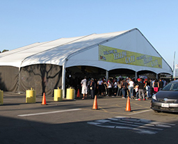 Arcum exhibition tent of American OC agricultural Fair