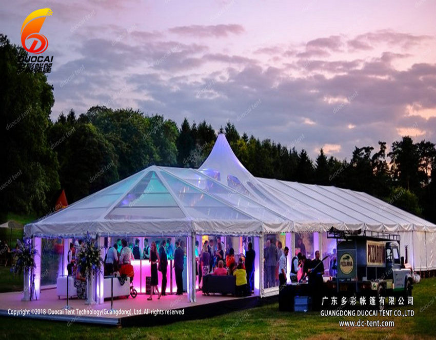 Fashion design of wedding tent with clear sidewall
