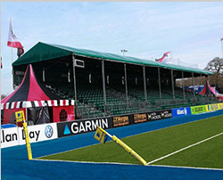 Special design for audience area of sport event