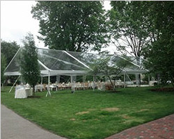 Clear PVC top marquee for wedding catering