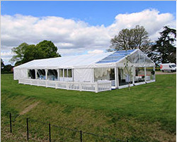 Temporary Tent Structure For Ceremony And Reception