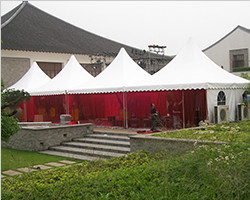 Pagoda tent for festival use