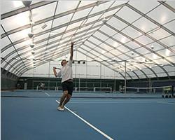 Modular sport field tent for tennis game