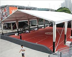 Indoor basketball game court