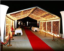 Aluminum PVC clear span structure tent