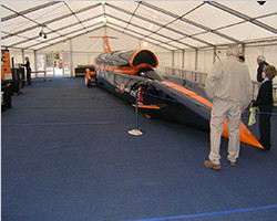 Canopy structure for temporary exhibition