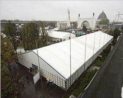Outdoor exhibition for trade show in a short time