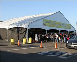 Arcum exhibition tent of American OC agricultural Fair