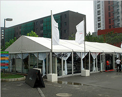 Aluminum auto show outdoor tent solution