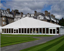 Trade fair marquee tent of deluxe exhibition