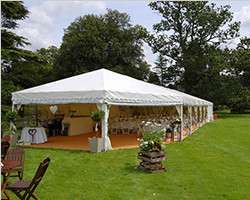Company reception marquee hex end tent