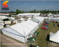 Temporary tents & the Red Cow Food Festival