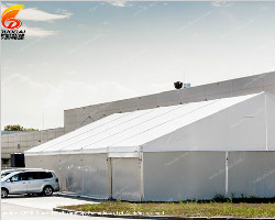 The tent suitable for outside the factory
