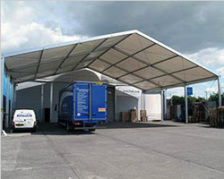 Warehouse clear span tent