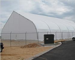 Custom warehouse tent of 30m width