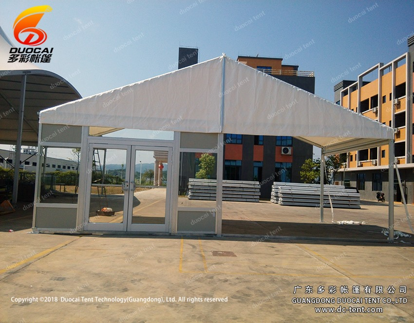 Gazebo wedding tent with glass door from Chinese manufactory