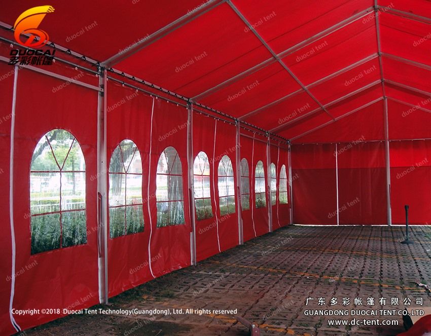 Removable tent with clear windows sidewalls from Chinese supplier