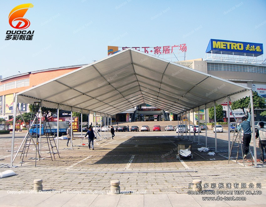 10x30M celebration PVC tent with side walls for furniture plaza