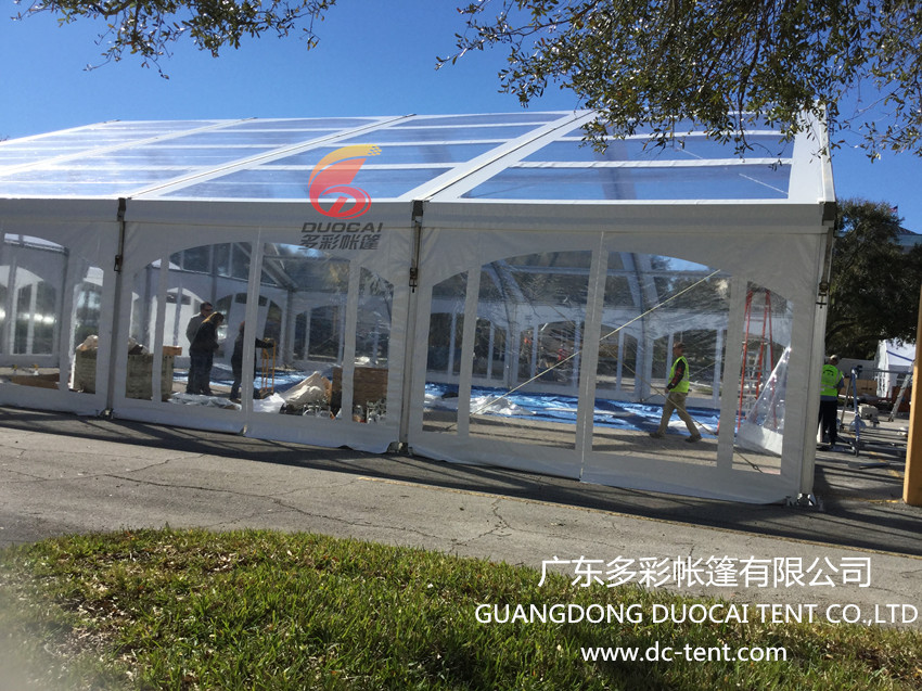 Transparent party tent